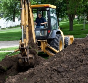 Backhoe driver training